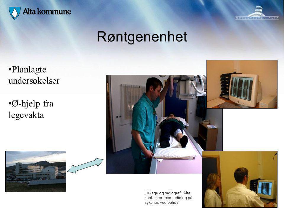 Røntgenenhet Planlagte undersøkelser Ø-hjelp fra legevakta