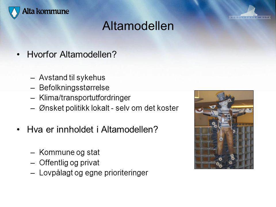 Altamodellen Hvorfor Altamodellen Hva er innholdet i Altamodellen