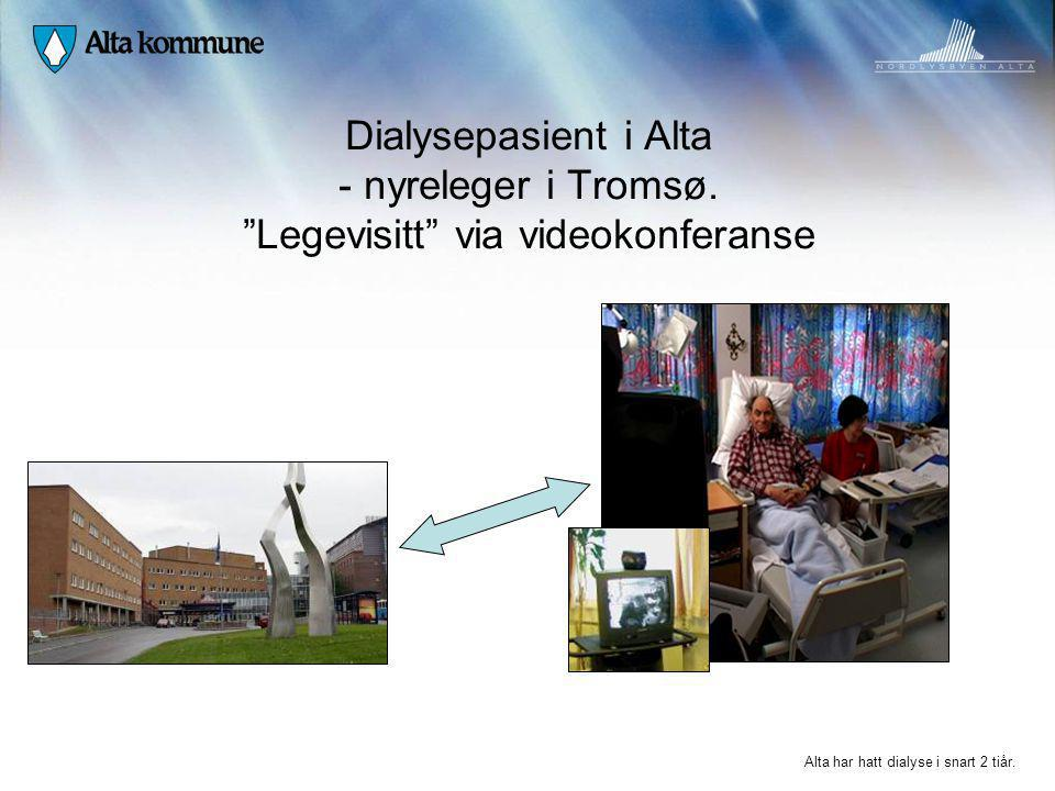 Dialysepasient i Alta - nyreleger i Tromsø