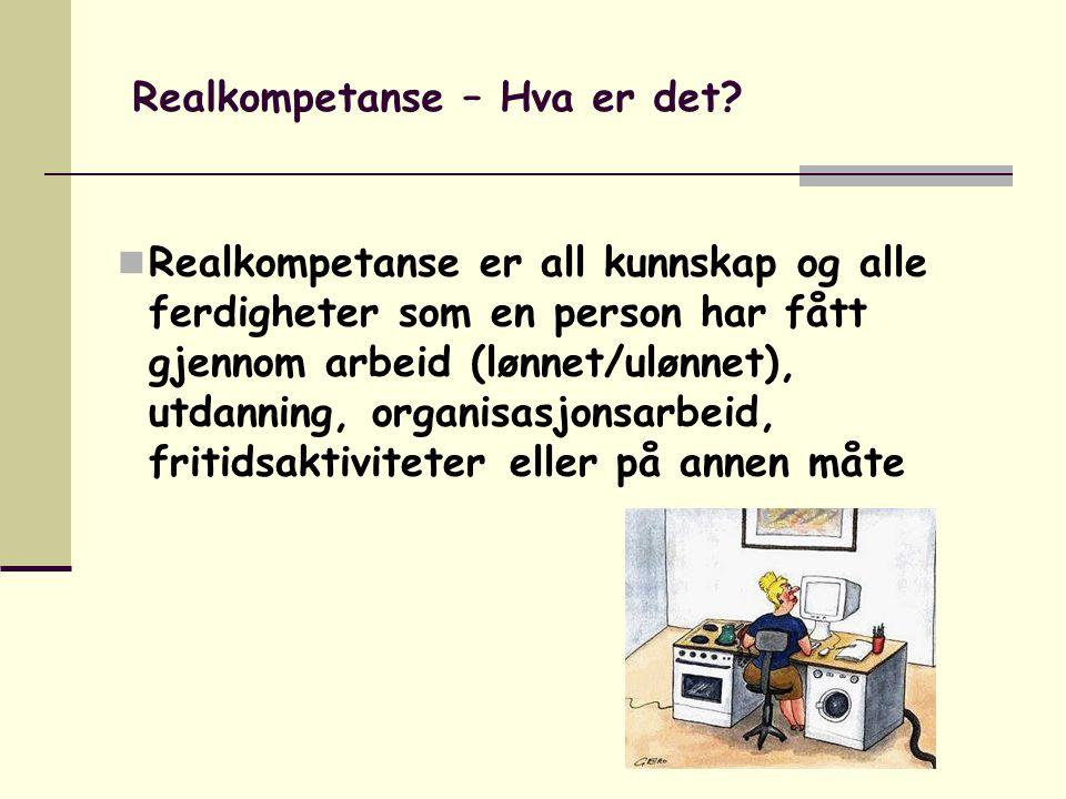 Realkompetanse – Hva er det