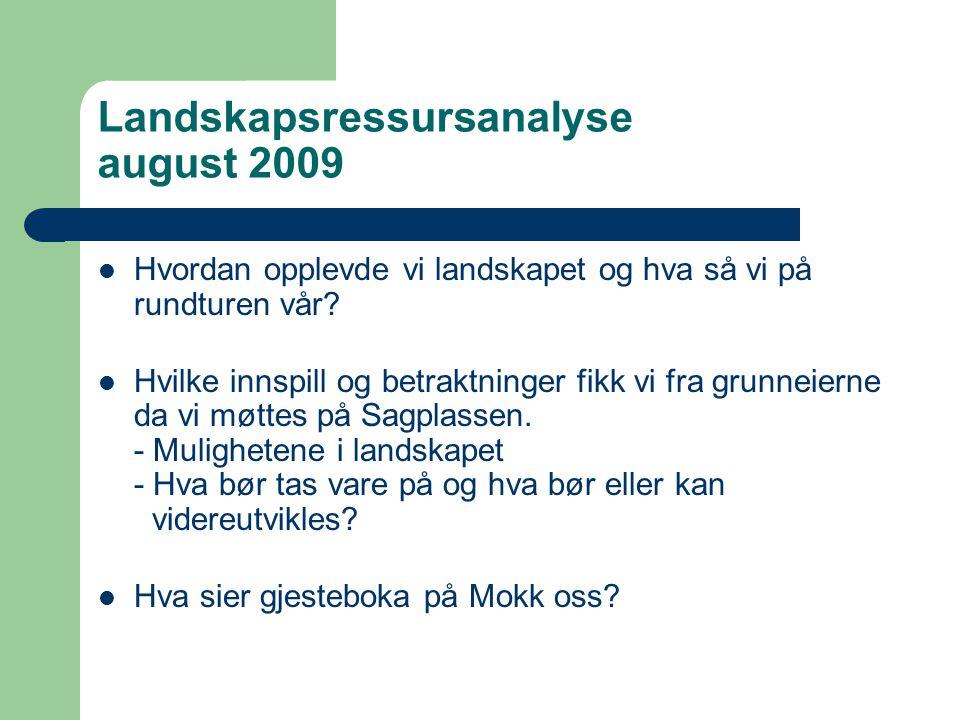 Landskapsressursanalyse august 2009