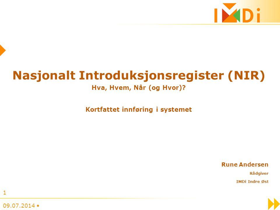 Nasjonalt Introduksjonsregister (NIR) Hva, Hvem, Når (og Hvor)