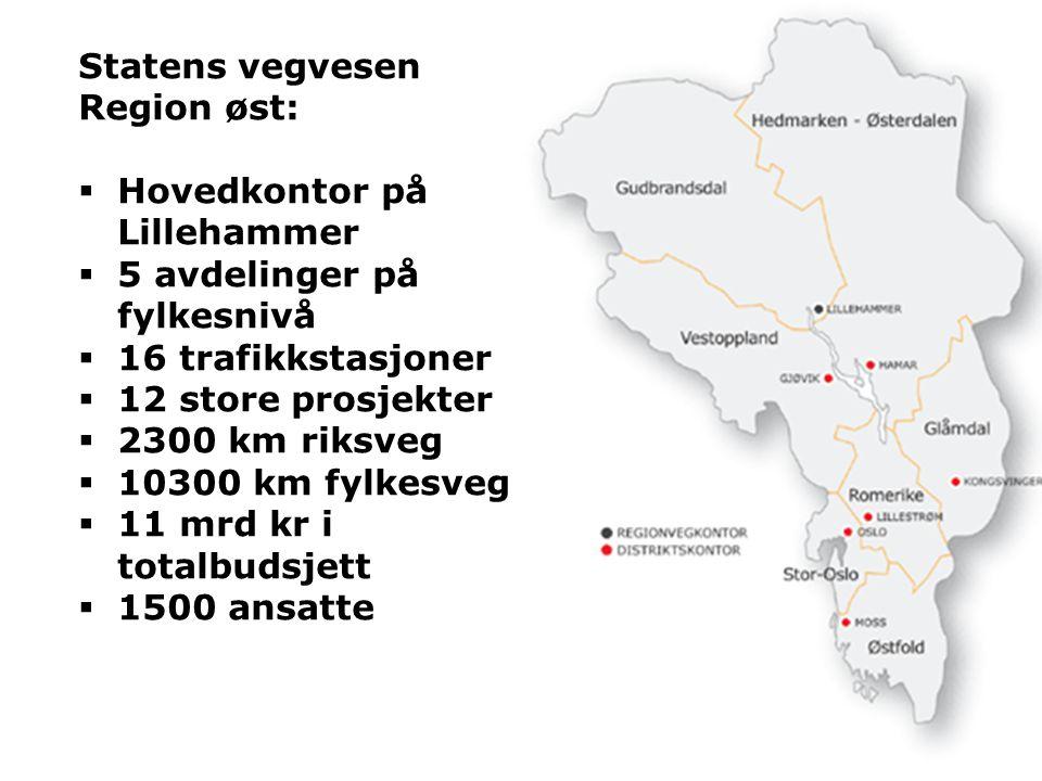 Hovedkontor på Lillehammer 5 avdelinger på fylkesnivå