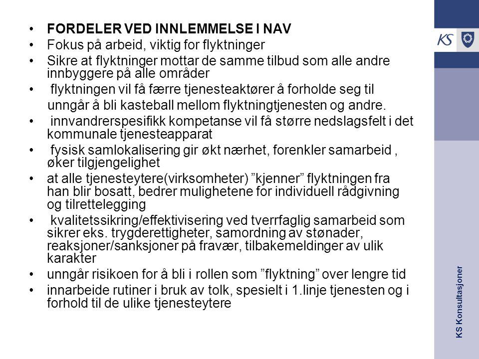 FORDELER VED INNLEMMELSE I NAV