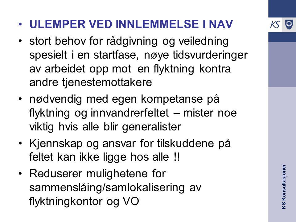 ULEMPER VED INNLEMMELSE I NAV