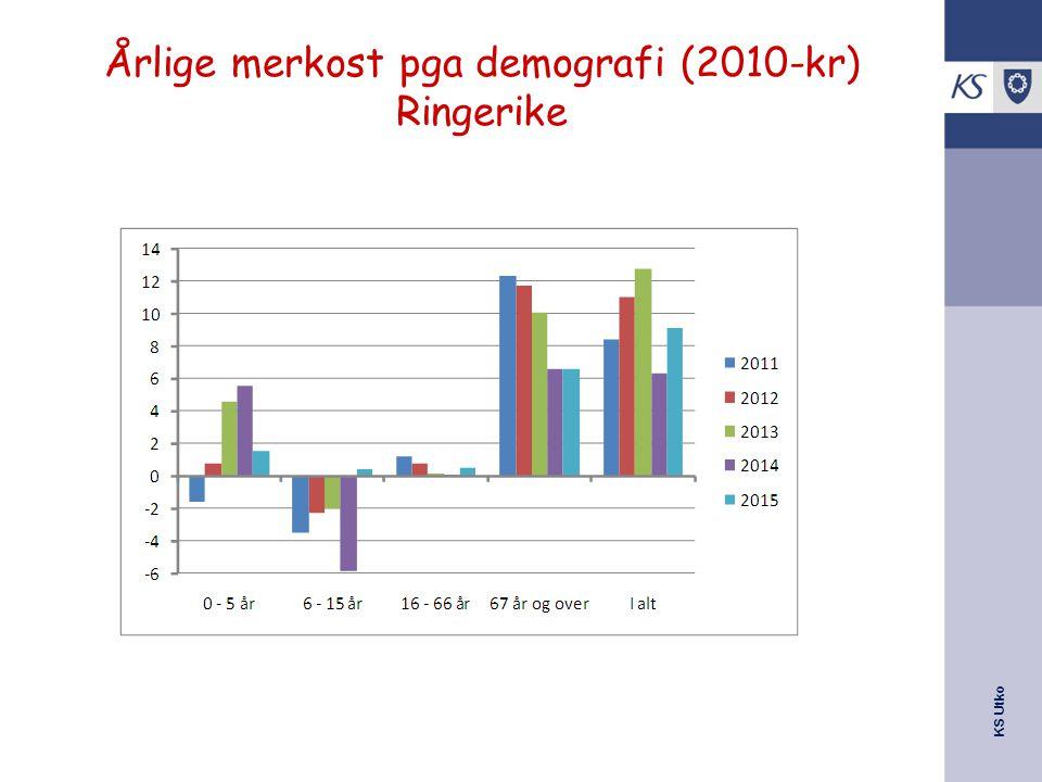 Årlige merkost pga demografi (2010-kr) Ringerike