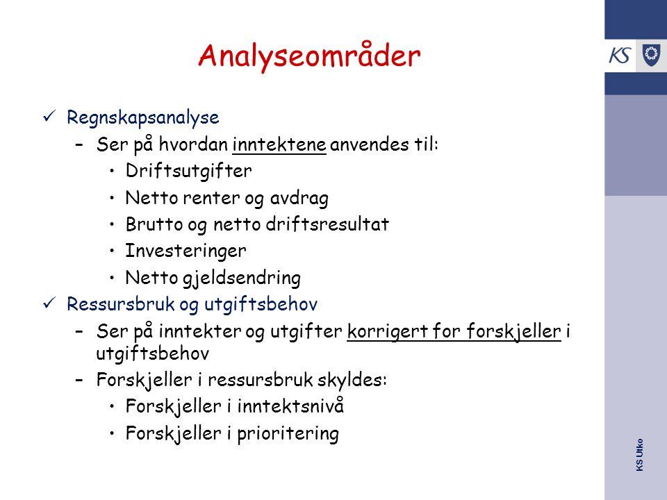 Analyseområder Regnskapsanalyse