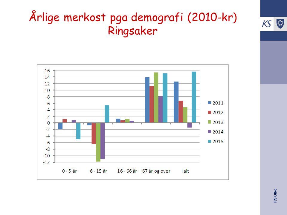Årlige merkost pga demografi (2010-kr) Ringsaker