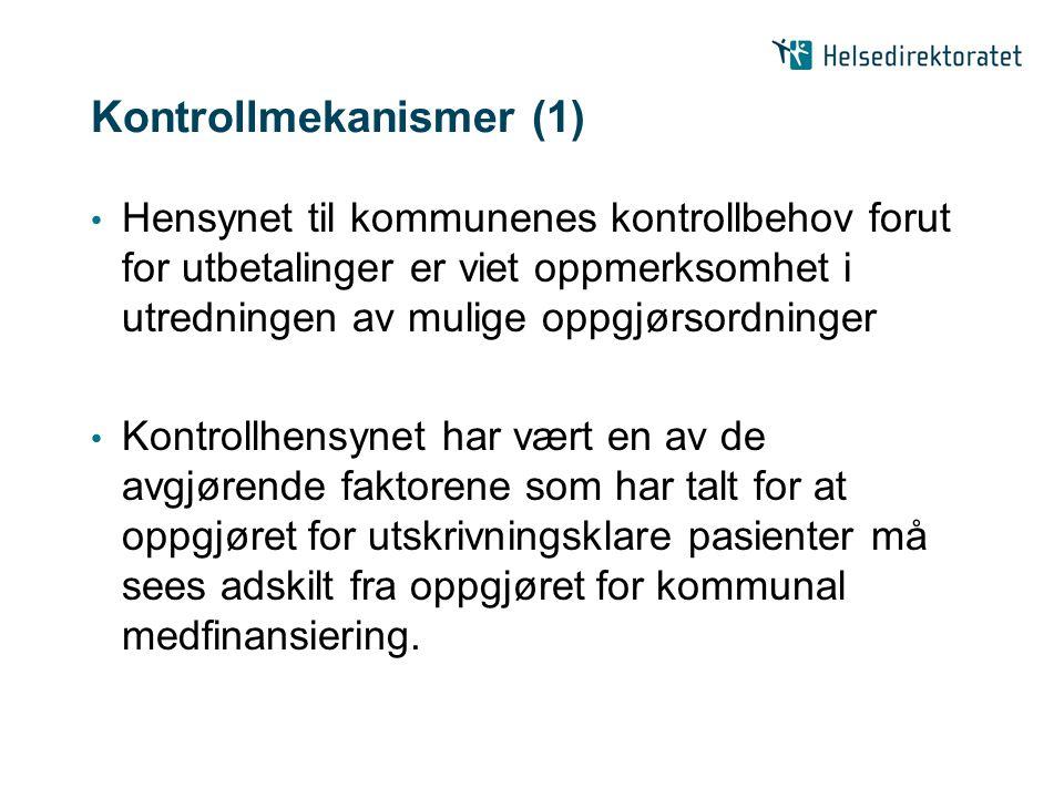 Kontrollmekanismer (1)