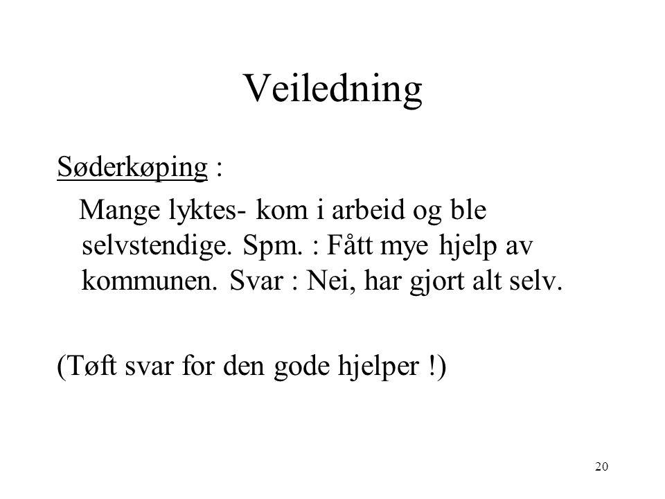 Veiledning Søderkøping :