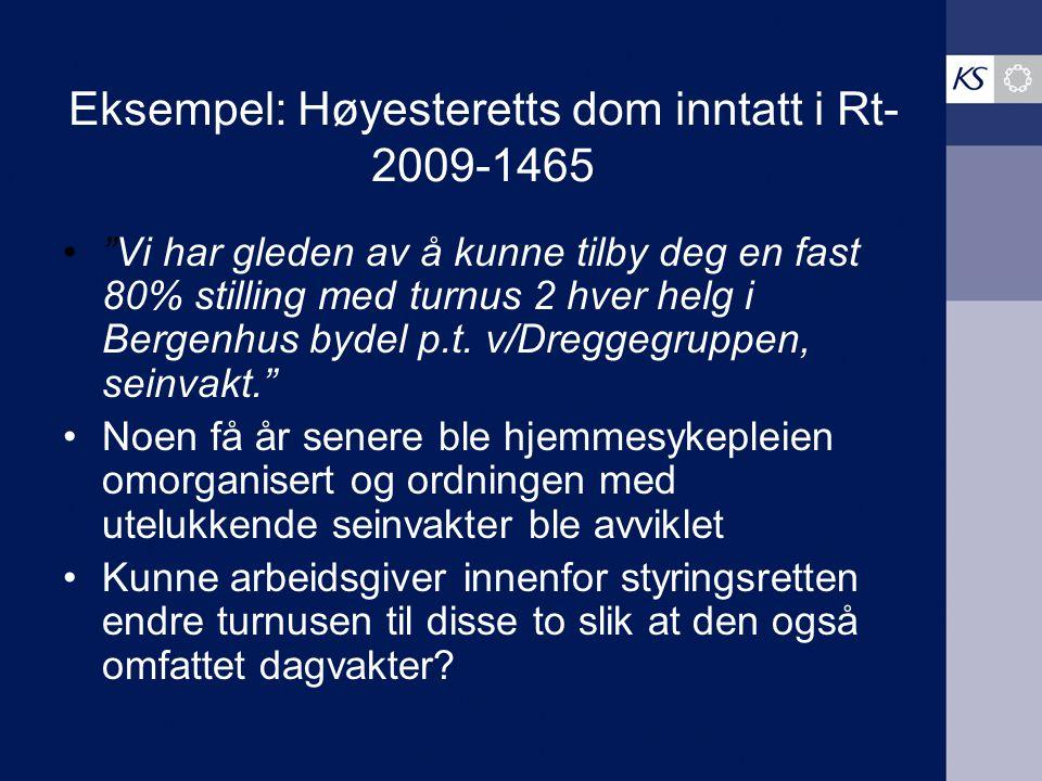 Eksempel: Høyesteretts dom inntatt i Rt-2009-1465