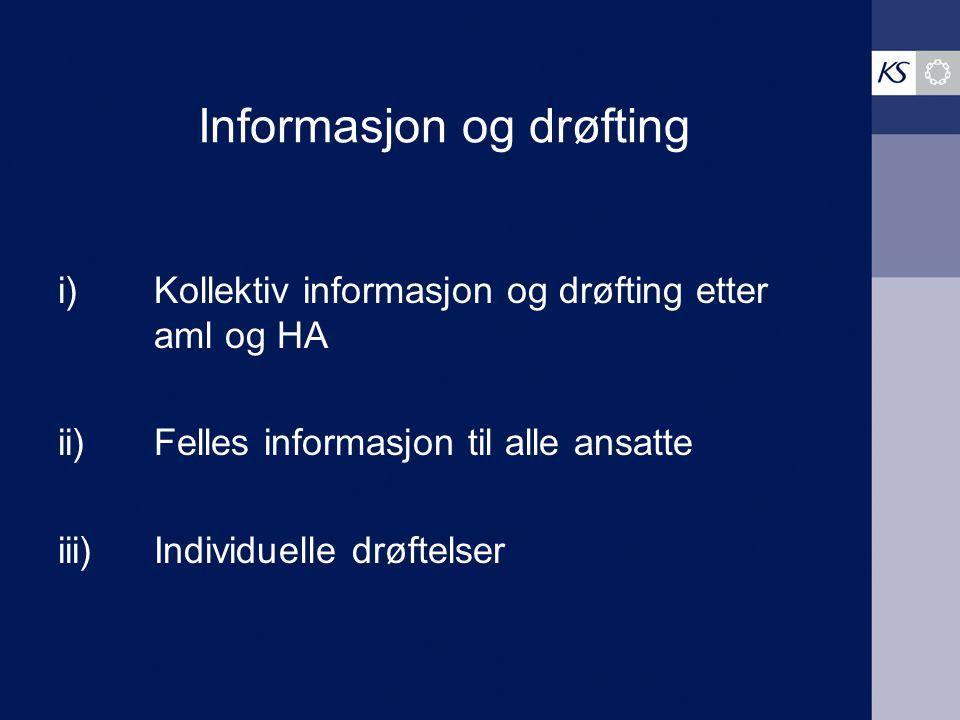 Informasjon og drøfting