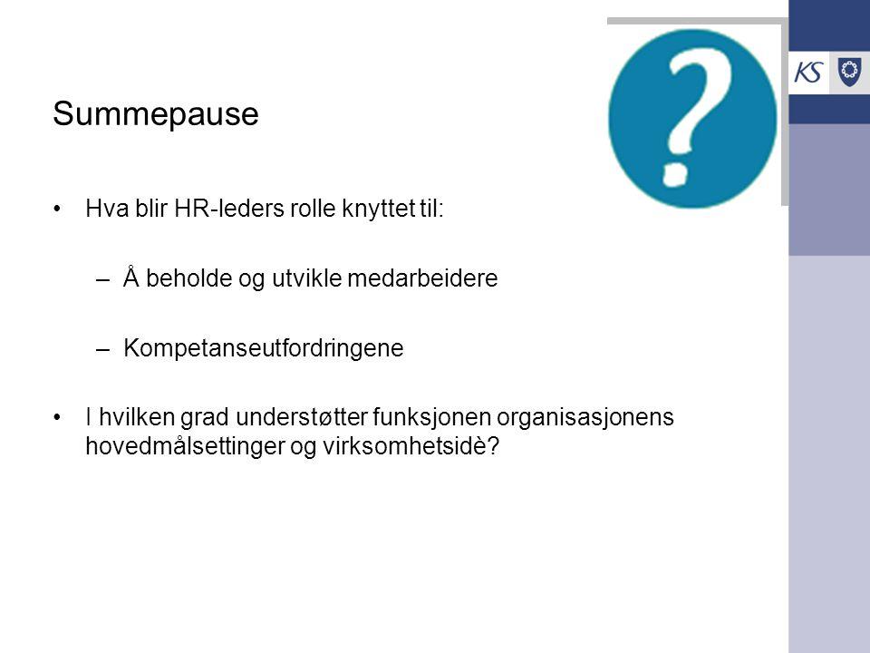 Summepause Hva blir HR-leders rolle knyttet til: