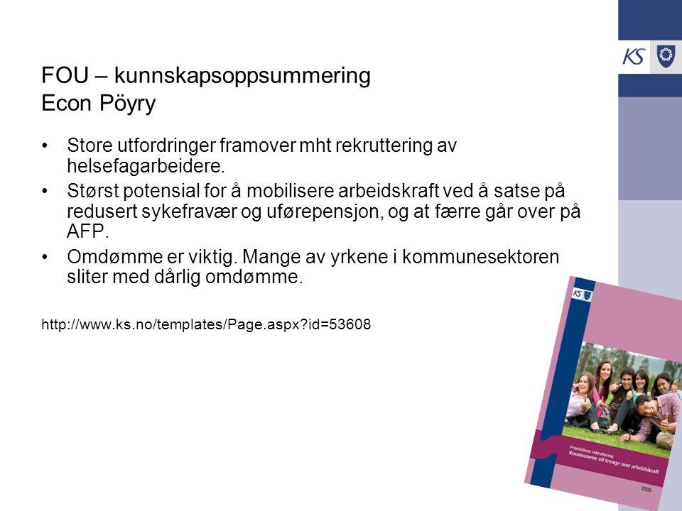 FOU – kunnskapsoppsummering Econ Pöyry