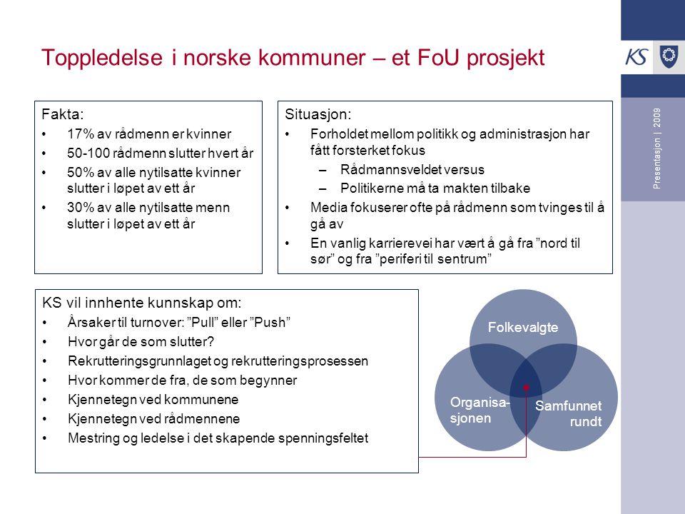 Toppledelse i norske kommuner – et FoU prosjekt