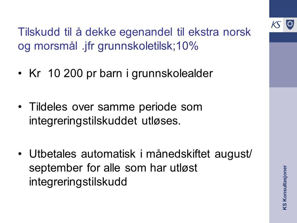 Tilskudd til å dekke egenandel til ekstra norsk og morsmål