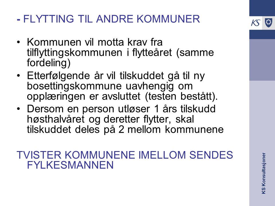 - FLYTTING TIL ANDRE KOMMUNER