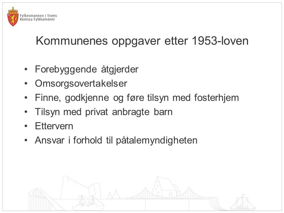 Kommunenes oppgaver etter 1953-loven