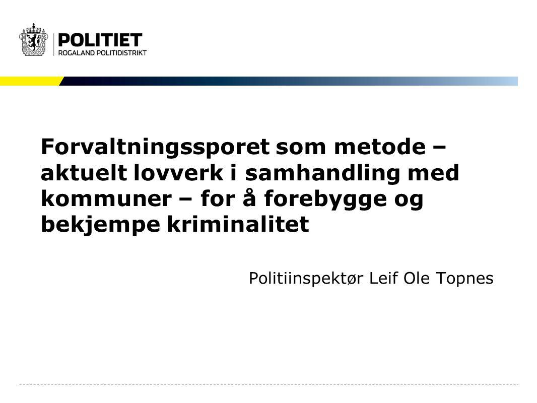Politiinspektør Leif Ole Topnes