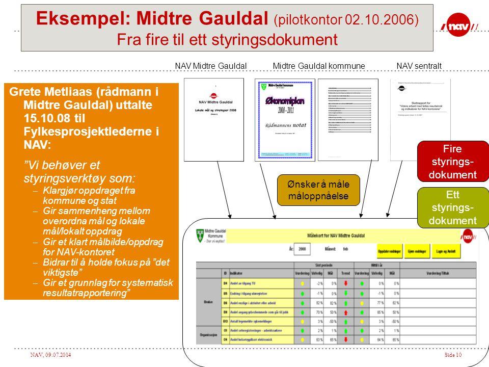 Eksempel: Midtre Gauldal (pilotkontor 02.10.2006)