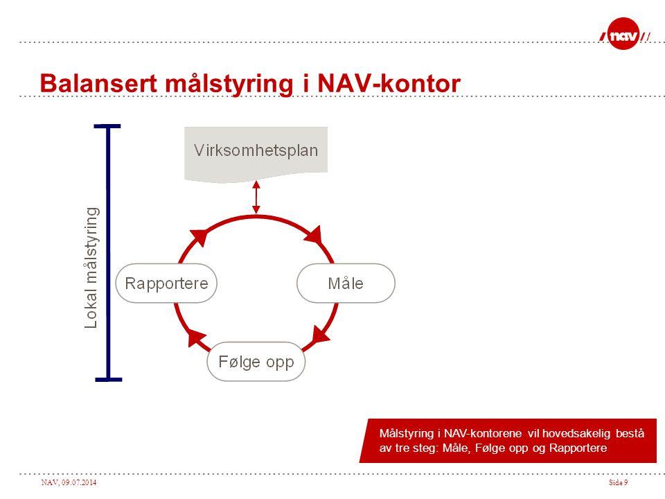 Balansert målstyring i NAV-kontor