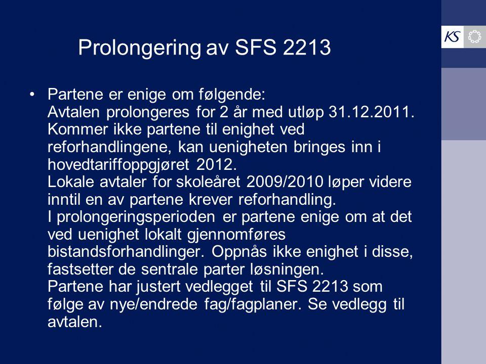 Prolongering av SFS 2213
