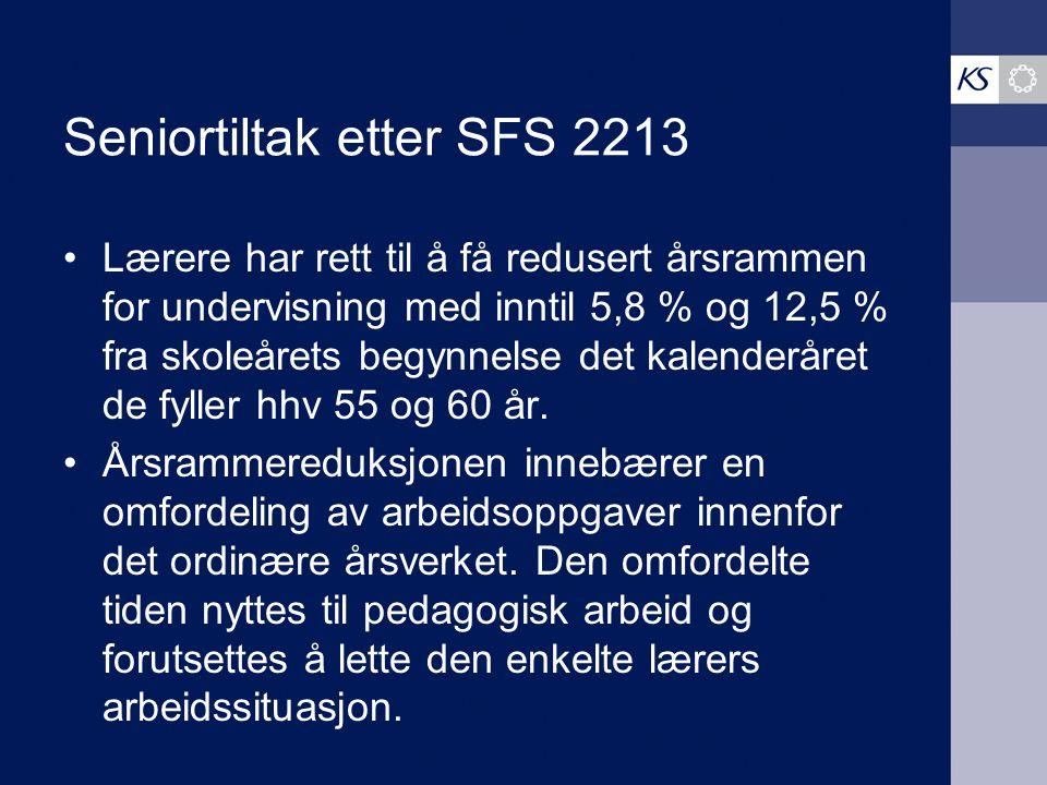 Seniortiltak etter SFS 2213