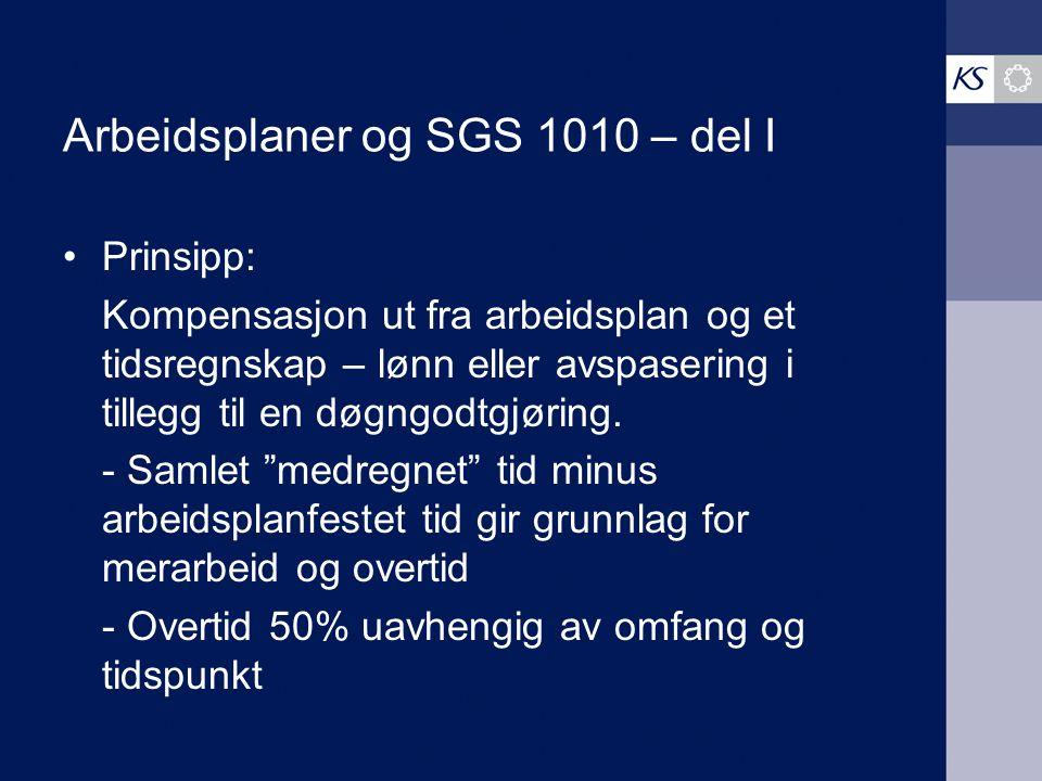 Arbeidsplaner og SGS 1010 – del I