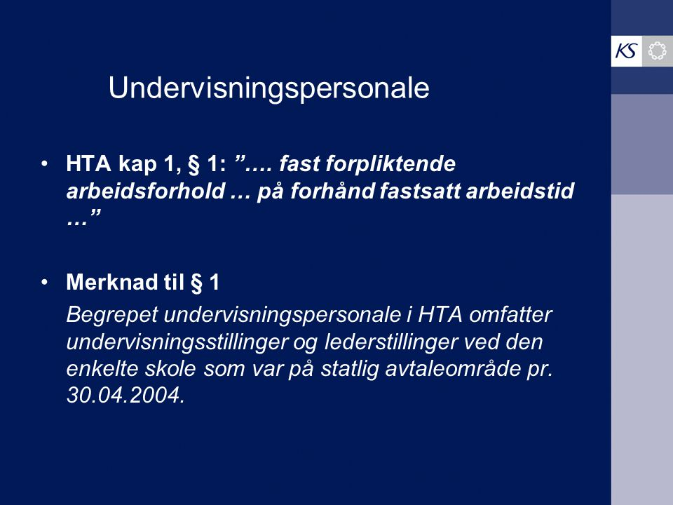 Undervisningspersonale