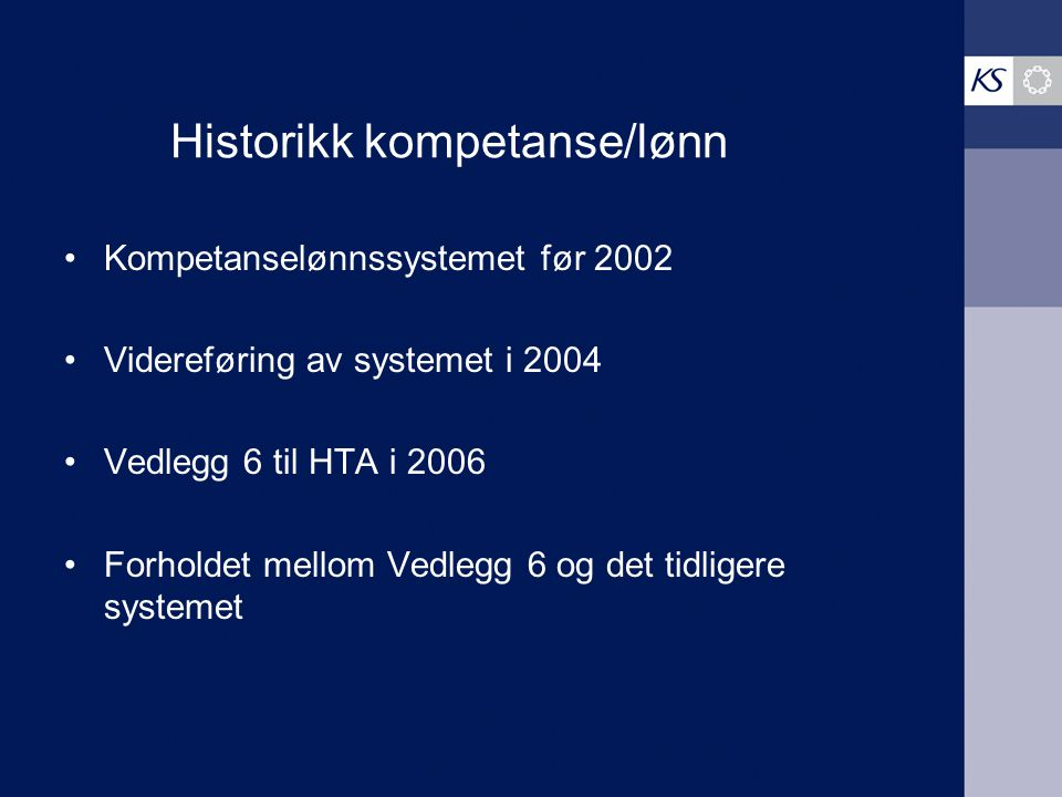 Historikk kompetanse/lønn