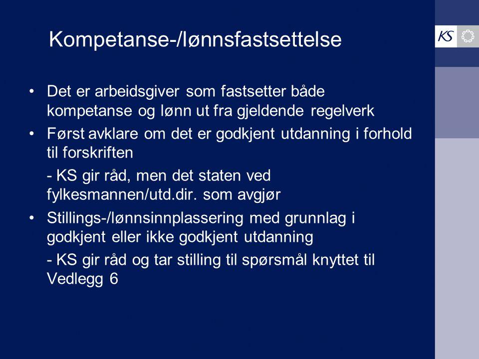 Kompetanse-/lønnsfastsettelse
