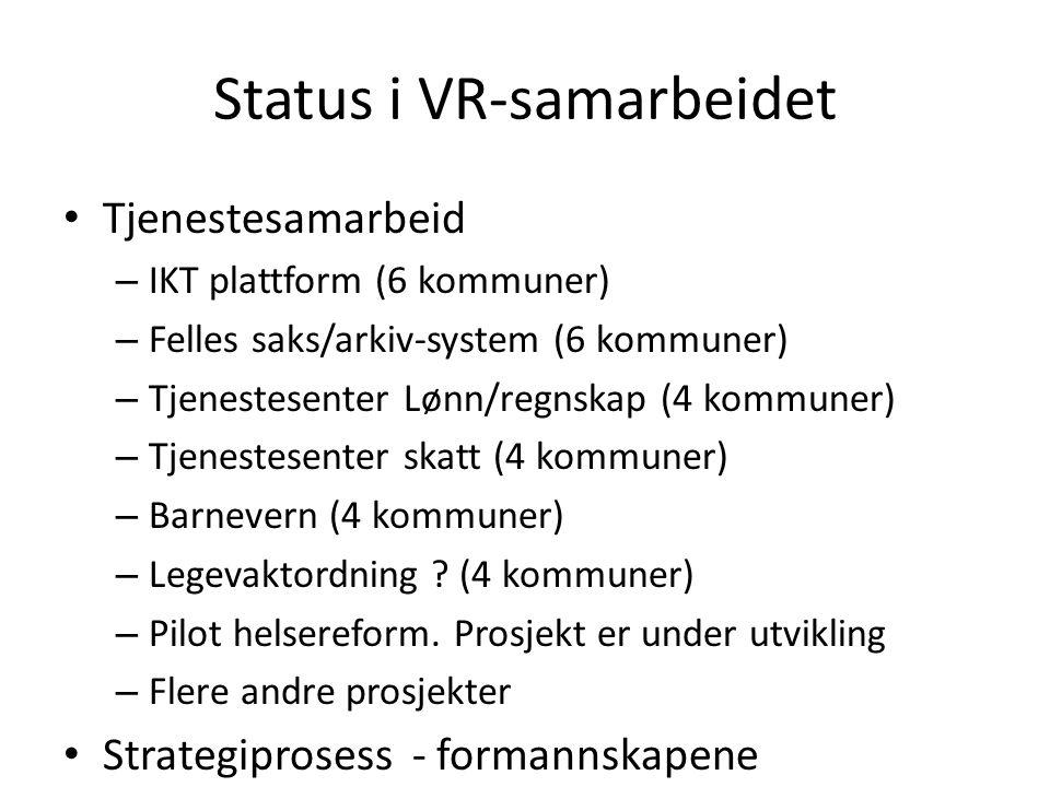 Status i VR-samarbeidet