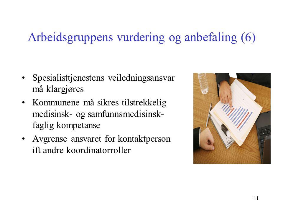 Arbeidsgruppens vurdering og anbefaling (6)