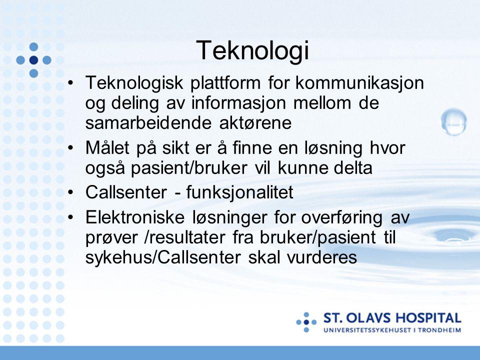 Teknologi Teknologisk plattform for kommunikasjon og deling av informasjon mellom de samarbeidende aktørene.