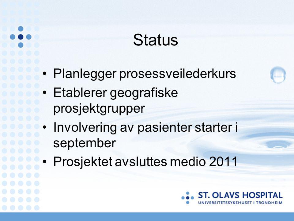 Status Planlegger prosessveilederkurs