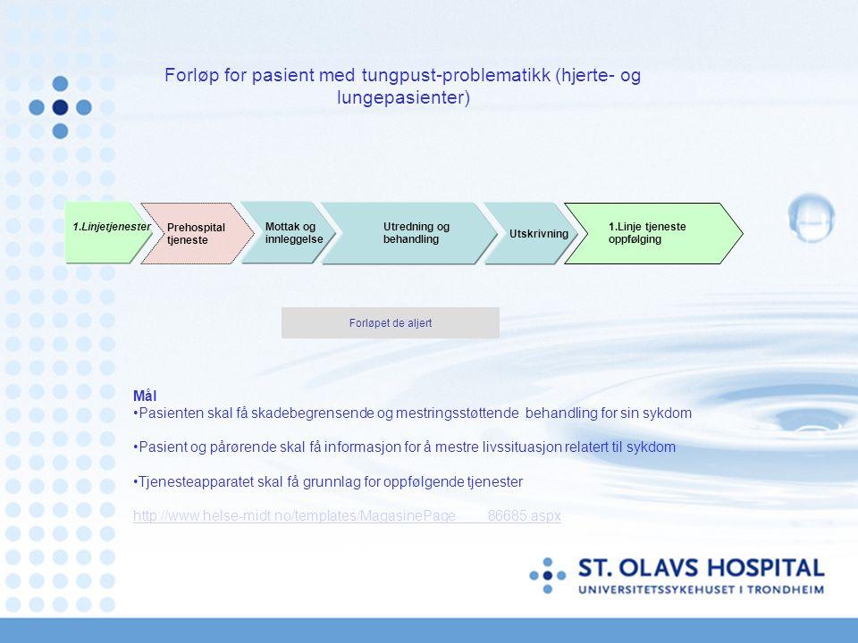 Forløp for pasient med tungpust-problematikk (hjerte- og lungepasienter)