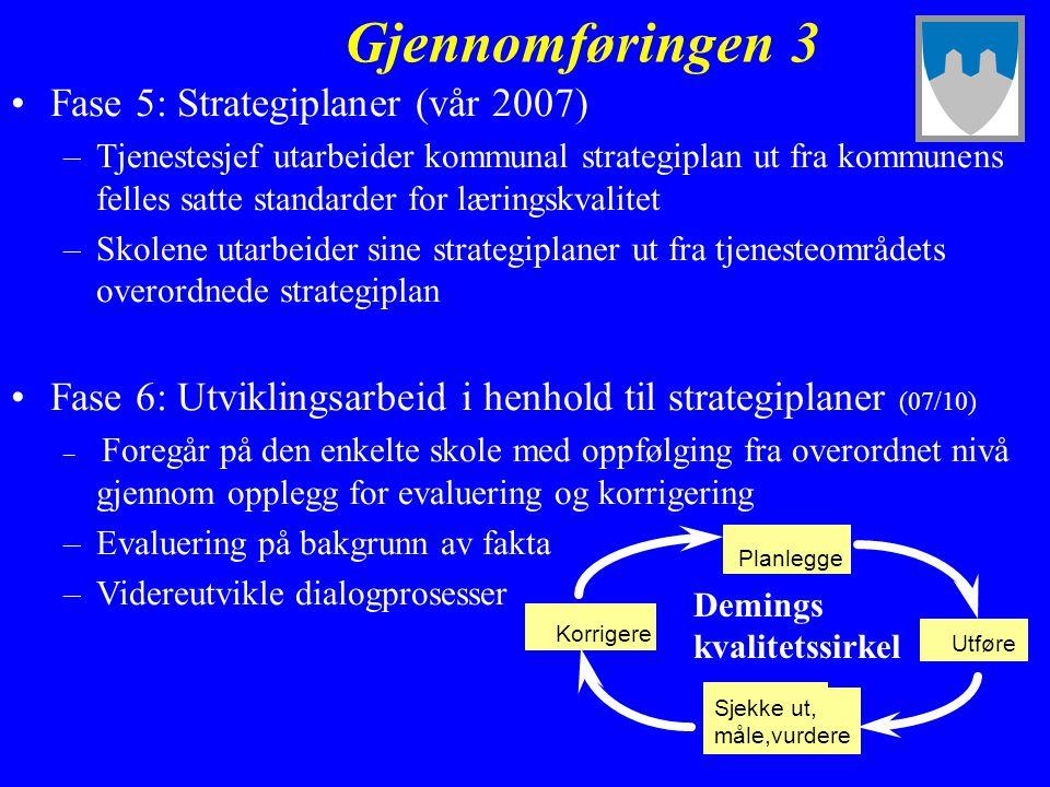 Gjennomføringen 3 Fase 5: Strategiplaner (vår 2007)