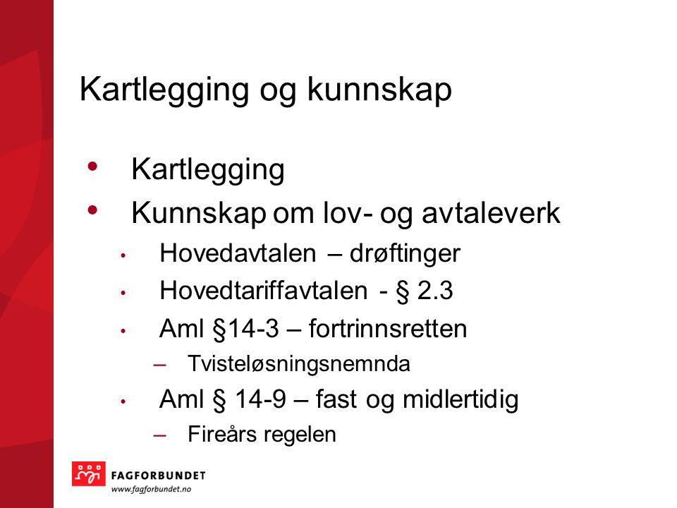 Kartlegging og kunnskap