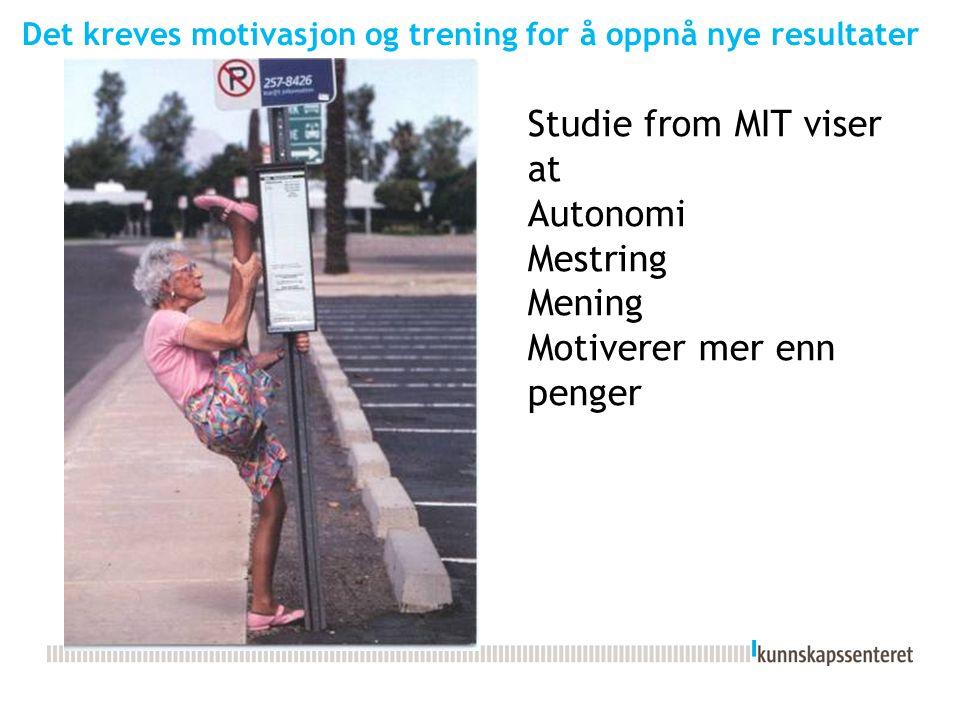 Det kreves motivasjon og trening for å oppnå nye resultater