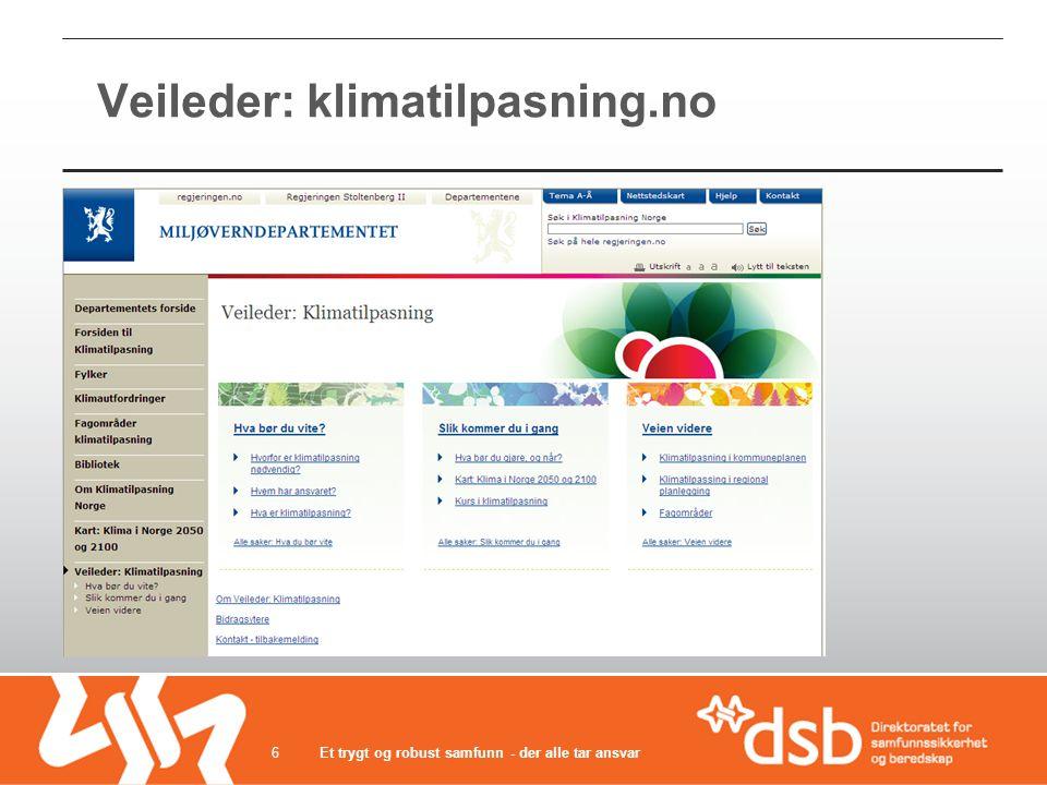Veileder: klimatilpasning.no