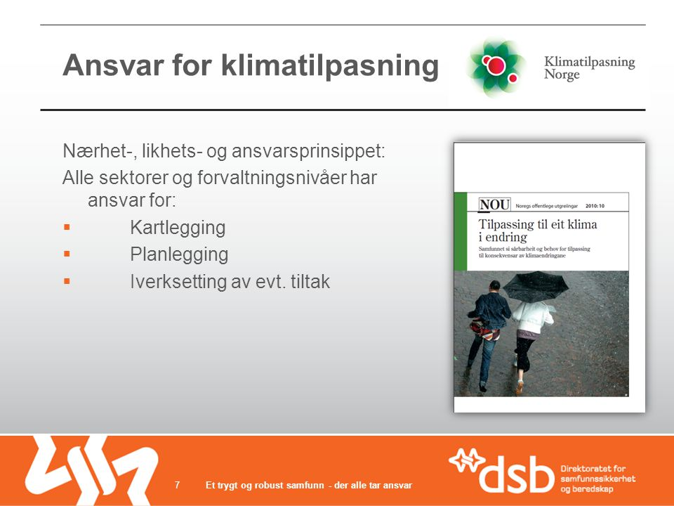 Ansvar for klimatilpasning