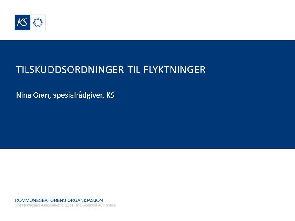 TILSKUDDSORDNINGER TIL FLYKTNINGER