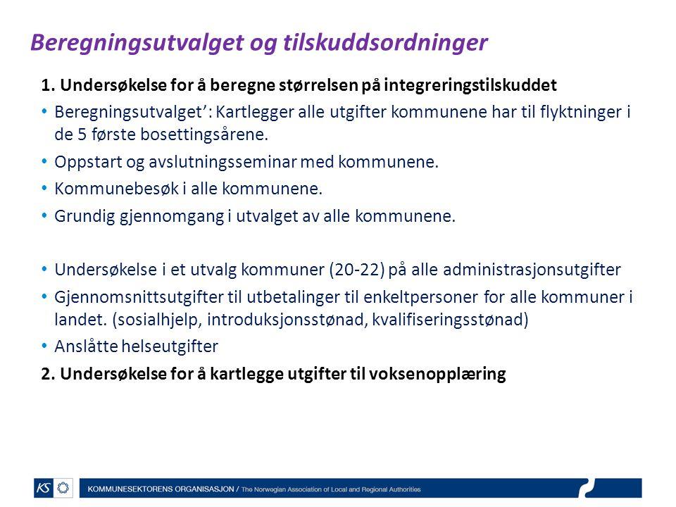 Beregningsutvalget og tilskuddsordninger