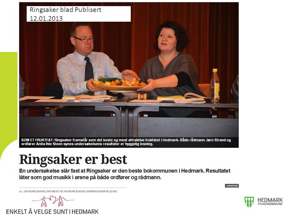 Ringsaker blad Publisert 12.01.2013