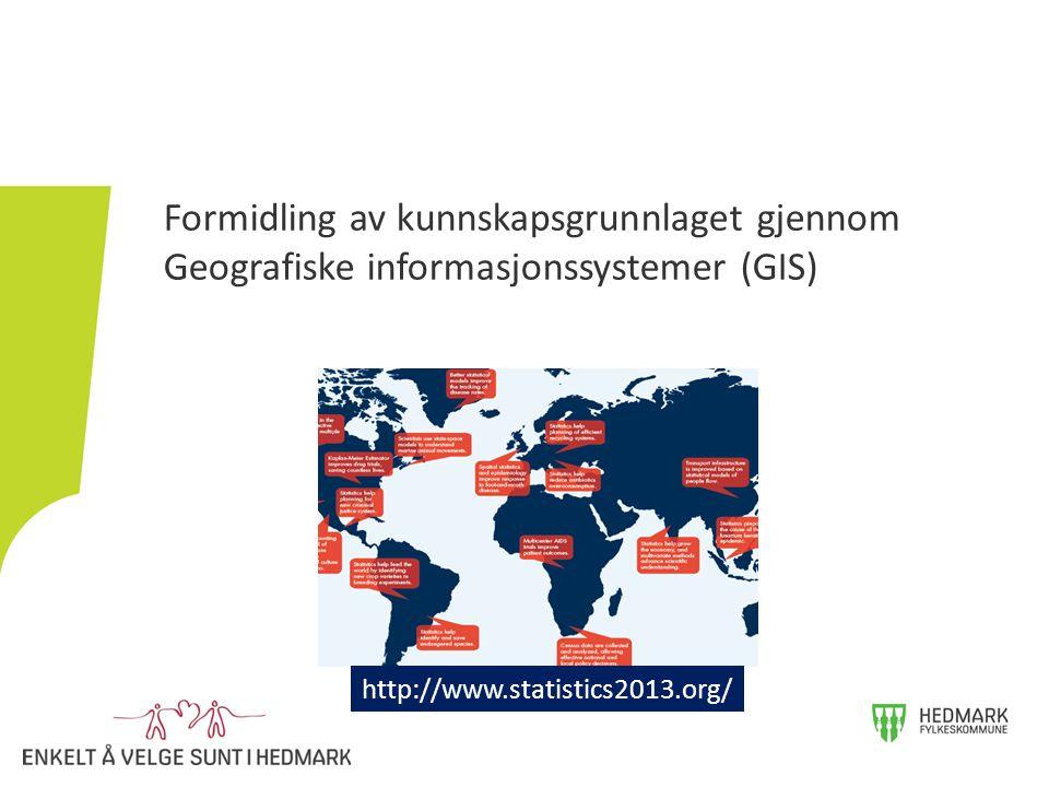 Formidling av kunnskapsgrunnlaget gjennom Geografiske informasjonssystemer (GIS)