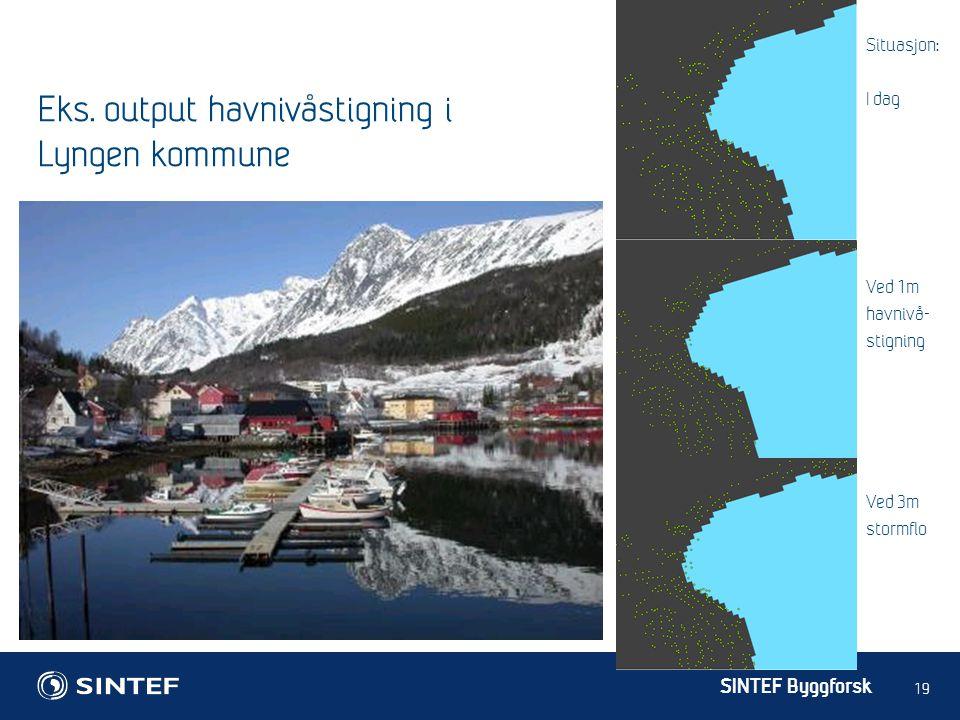 Eks. output havnivåstigning i Lyngen kommune