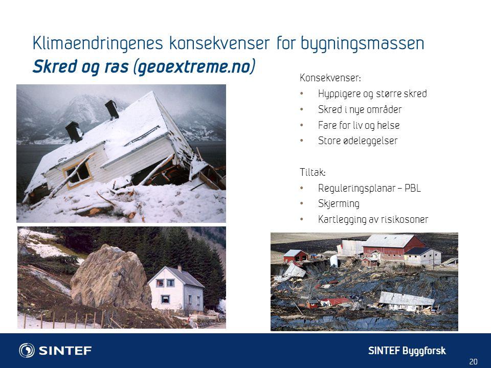 Klimaendringenes konsekvenser for bygningsmassen Skred og ras (geoextreme.no)