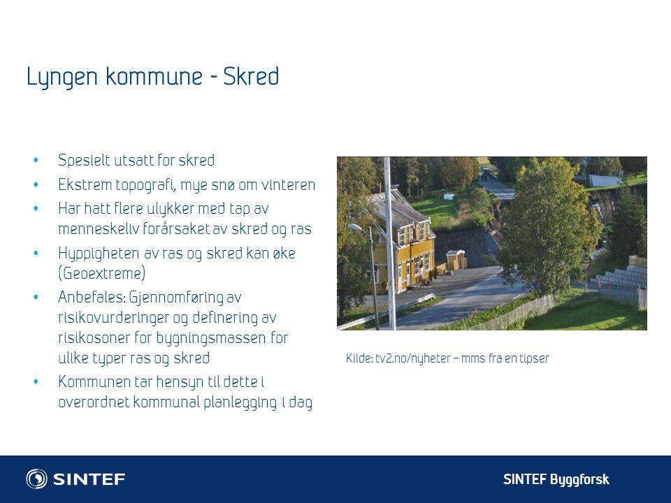 Lyngen kommune - Skred Spesielt utsatt for skred