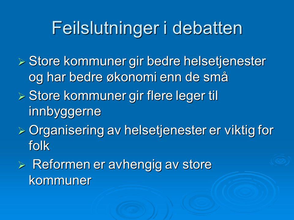 Feilslutninger i debatten