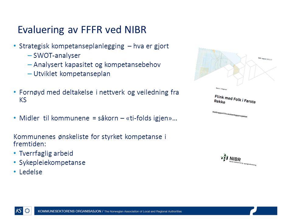 Evaluering av FFFR ved NIBR